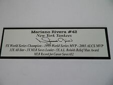 Mariano Rivera Autograph Nameplate New York Yankees Autograph Jersey Ball Photo