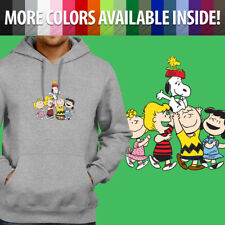 Peanuts Snoopy Woodstock Charlie Brown Group Pullover Sweatshirt Hoodie Sweater