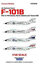 Caracal Decals 1/48 MCDONNELL F-101B VOODOO Air National Guard Units Part 2