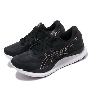 Asics GlideRide Black Rose Gold White Women Running Shoes Sneakers 1012A699-001