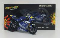 MINICHAMPS VALENTINO ROSSI 1/12 MODELLINO MOTOGP YAMAHA M1 2005 DIECAST MOTO NEW