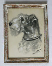 GERMAINE BOURET, fox terrier, authentique gravure/litho gouache, N°1