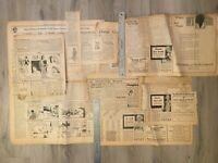 Original Vintage 1931 - Collection of Attitudes Toward Women - Newspaper Pages