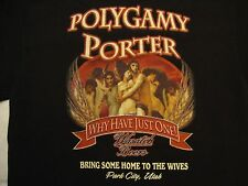Bandits Grill & Bar Wasatch Beers Park City, Utah Polygamy Porter T Shirt Size S