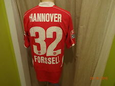 "Hannover 96 original under armour camiseta 2008/09 ""tui"" + nº 32 forssell talla m top"