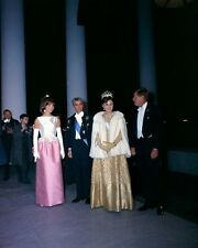 President John F. Kennedy and Jackie with Shah of Iran and Farah New 8x10 Photo