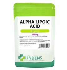 El ácido alfa lipoico 250mg X 90 Cápsulas De Alta Calidad fuerte antioxidante Ojo Cerebro
