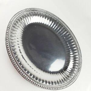 Wilton Armetale Flutes & Pearls Medium Oval Tray #272014