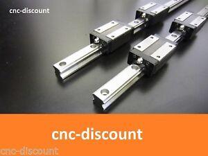 CNC Set 15 x 200mm 2x Linearführung + 4x Linearwagen orange  Linear Fräse Welle