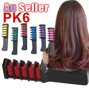 6PCS Temporary Gift Salon Set Party DIY Soft Dye Comb Hair Colour Chalk Pastels