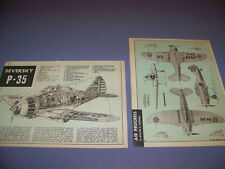 VINTAGE..1937 SEVERSKY P-35....4-VIEWS/CROSS SECTIONS/CUTAWAY...RARE! (283)