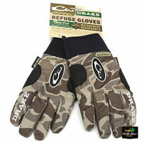 NEW DRAKE WATERFOWL SYSTEMS MST REFUGE GLOVES OLD SCHOOL TIMBER CAMO SMALL S