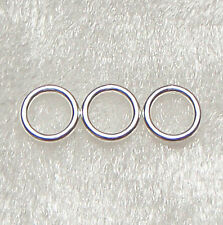 1000+ 50g 5mm x 0.7mm Antique Silver Tone Closed Unsoldered Jump Rings 100g