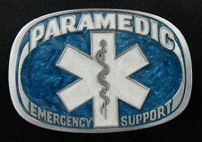 PARAMEDIC EMERGENCY SUPPORT VINTAGE BELT BUCKLE BAKERY GREAT AMERICAN 1985