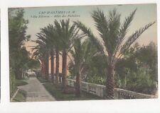 Cap d'Antibes Villa Eilenroc Allee des Palmiers Vintage Postcard France 059a