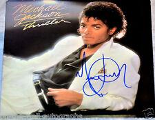 MICHAEL JACKSON HAND SIGNED AUTOGRAPHED ORIGINAL THRILLER ALBUM! RARE PROOF+COA!