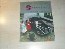 21889) MG Magnette Prospekt 1957