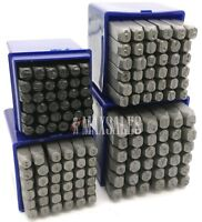 144pc 3mm & 4mm & 5mm & 6mm Letter & Number Stamping Set Hardened Steel Metal