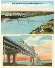 LA 2 Cards Baton Rouge Louisiana Bridge Over the Mississippi River
