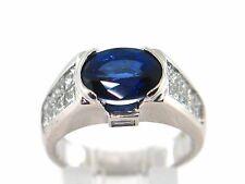 5.01 CT Sapphire & Diamond Lady's Ring VS1/G 14K W.G.