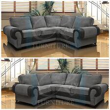 New Tango Jumbo 4 Seater Right OR Left Corner Sofa Full Back Cord Leather Fabric
