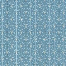 Moderno Art Déco Triángulos Papel Tapiz Azul/Plata - Rasch 434057