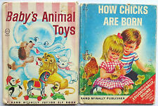 Vintage Rand McNally Children's Book Lot–Baby's Animal Toys–Old Elf, Junior Size