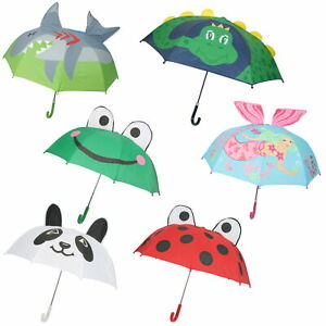 Drizzles Childrens 3D Dome Umbrella with Crook Handle