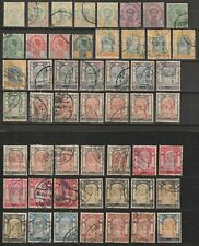 Thailand 1887-1905 nice small collection of Rama V used