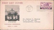 1936 Arkansas Centennial Sc782-20 Unknown Cachet Maker FDC