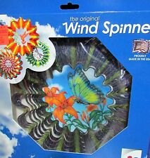 """10"""" Butterfly Twisting Wind Spinner Sparkly Steel Iron Stop Outdoor Indoor Hang"""
