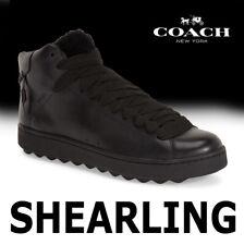 MEN'S COACH SHEARLING SNEAKER FUR (AUSTRALIA) LEATHER BLACK G1249 MSRP $295 10.5