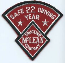 McLean Trucking Company 22 year safe driving driver patch 3-3/4 X 4 #641