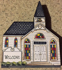 Brandywine Woodcrafts Downtown Houses: White Colonial Church Traditional