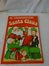 Vtg 80s GOLDEN Christmas SANTA CLAUS COLORING / Activity BOOK #1116-2