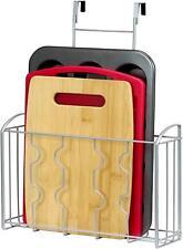 Door Organizer Holder Over the Cabinet Kitchen Storage Basket Cutting Board Rack