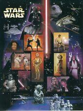USPS Star Wars 41 cent Stamps Luke Skywalker, Yoda, Boba Fett, Han Solo