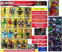 LEGO NINJAGO TRADING CARDS SERIE 3  ALLE Limitierte Karten LE1 - LE24, Ultra ua