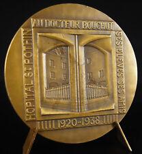Medaille hommage à Léon Bouchut médecin hôpital Saint Pothin Lyon 1938 medal