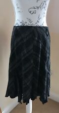 Grey And Black Checked Marks & Spencer Skirt Size 14