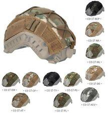 Cubierta de Piel nailon paño Tactical casco con cordón elástico Hook & Loop Para Casco rápido