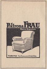 Z3545 Poltrona FRAU - Torino - Pubblicità d'epoca - 1929 vintage advertising
