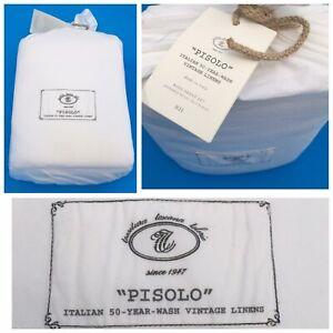 "RESTORATION HARDWARE ""PISOLO"" Vintage Linens 4 pc. KING Sheet Set NEW ITALY"
