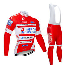 Mens Cycling Jacket Jersey Long Sleeve Tops Tights Trousers Winter Thermal Bike