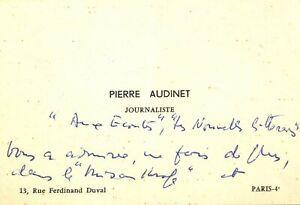 🌓Le journaliste PIERRE AUDINET félicite la comédienne LOUISE CONTE 1965 Théâtre