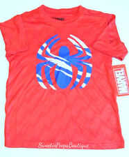 Marvel Spiderman Red Poly Graphic Tee Boys Size 8 M Stay Hungry