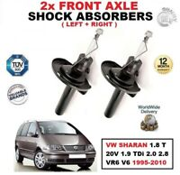FOR VW SHARAN 1.8 T 20V 1.9 TDi 2.0 2.8 VR6 V6 1995-10 FRONT SHOCK ABSORBERS SET