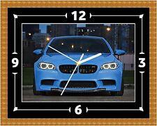 BMW M5 MSPORT Horloge Murale Cadeau Noël Anniversaire (peut être personnalisé)