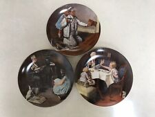 New ListingVintage Norman Rockwell 3 Decorative Plates In Original Box