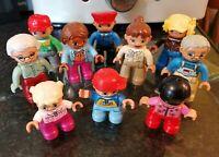 10 LEGO DUPLO FIGURES GRANDMA GRANDPA PILOT 3 CHILDREN TRAIN DRIVER ZOO LOVELY